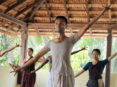 Group Practice at the Bharata Kalanjali Dance School, Chennai, Tamil Nadu India