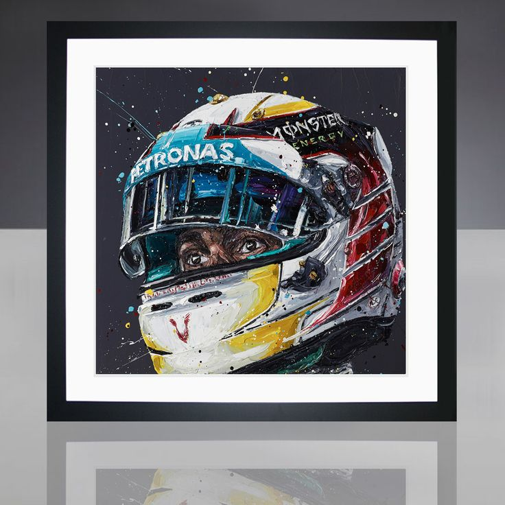 Paul Oz is the buzz word in Formula One art; widely acclaimed for his explosive and energetic artworks and well-respected for his genuine passion for the sport.  We are proud to present to you this limited edition, Paul Oz print, which portrays 2-time World Champion Lewis Hamilton in his Mercedes colours.  Available as part of a strictly limited edition of just 300 prints.  Each framed print measures approx 87 cm L x 85cm W and is professionally framed in a black frame, with white moun...