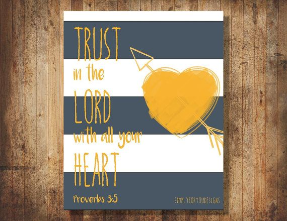 Trust in the Lord with all your Heart Canvas    Proverbs 3:5    Scripture Canvas    Bible Verse Canvas    Christian Canvas    Canvas Art