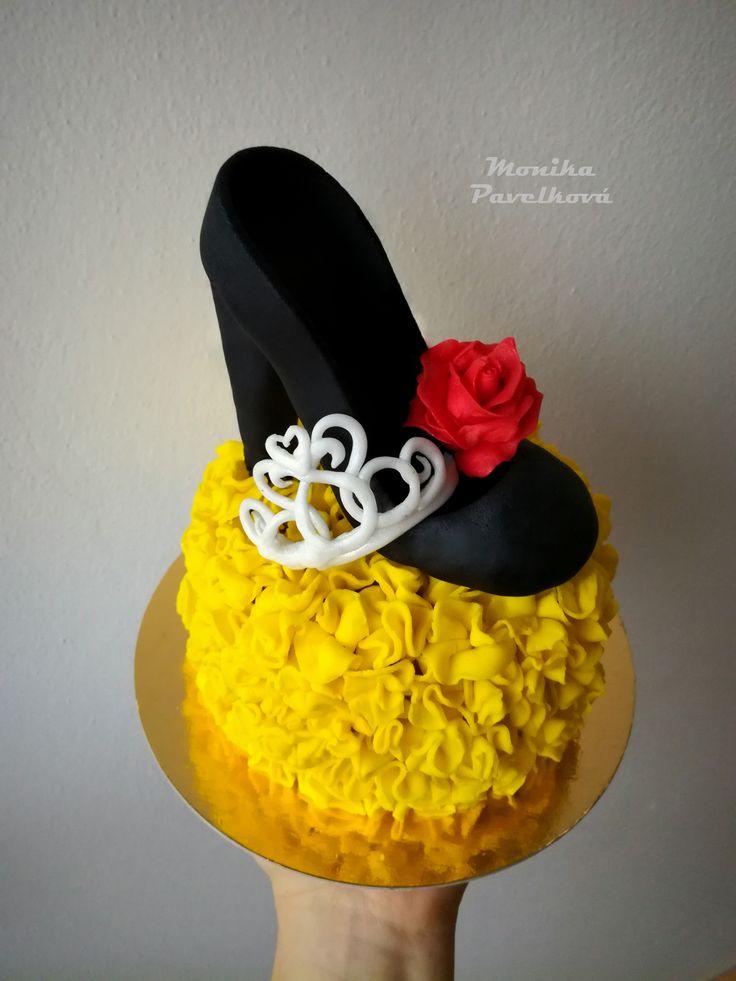 High heel for lady CAKE. DORT střevíček pro dámu.