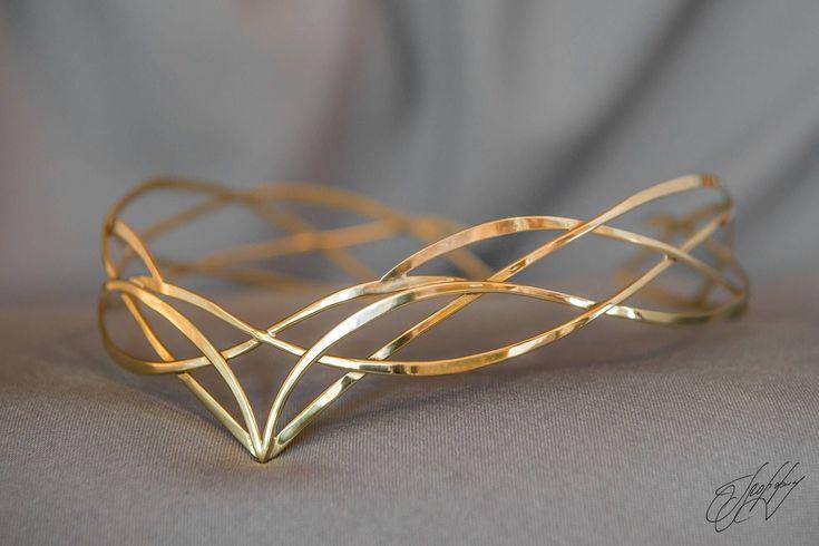 Elven diadem - wedding Tiara - Wedding hair accessories - bridal diadem - Elven crown - celtic jewelry - Irish Circlet - fantasy - Seana Elven bridal ...