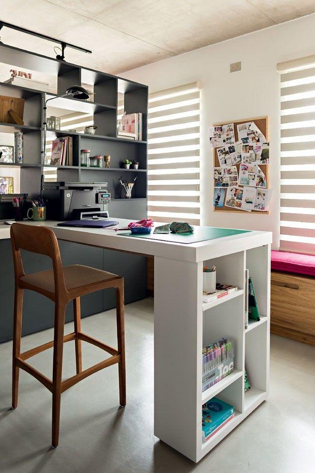 apartamento pequeno 70 m² jovem com cimento queimado, concreto aparente e muitas cores. Blog Achados de Decoração