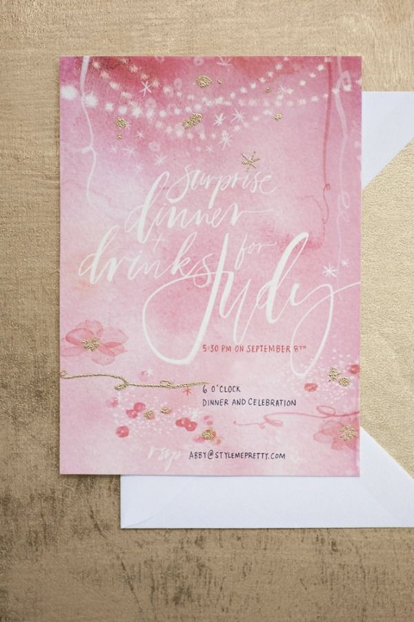 Dinner Party Invitation by Julie Song Ink
