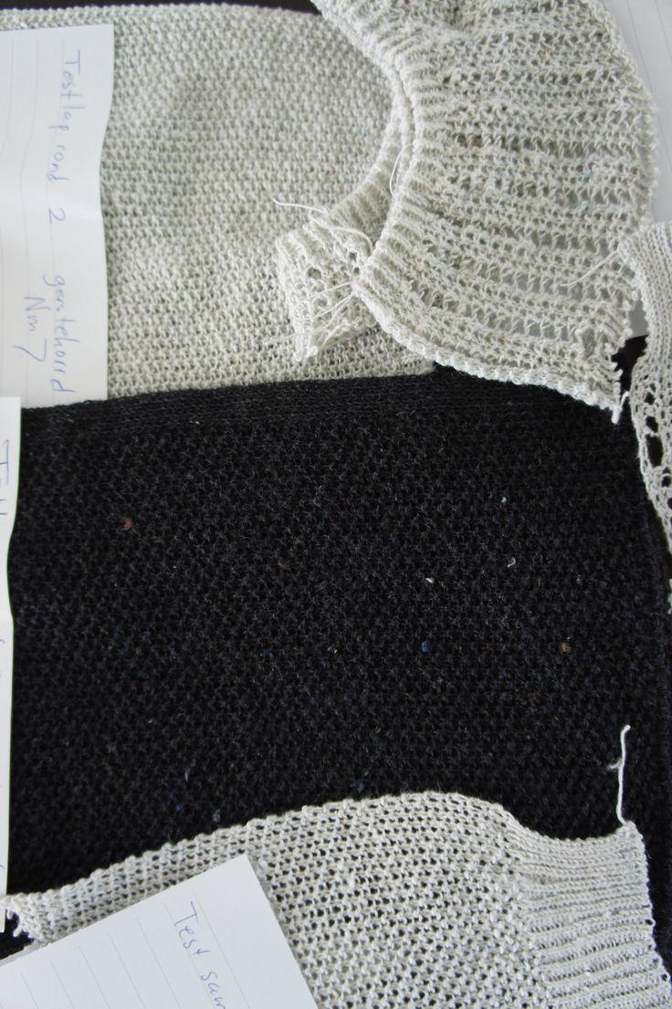 R&D ReBlend Knitting Ellen Sillekens / Sarena Huizinga nice first results 07.05.2014