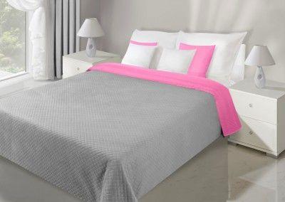 Sivo-ružový prehoz Filip je dostupný v 5 rozmeroch: 70x150, 170x210, 200x220, 220x240 alebo 230x260 cm.