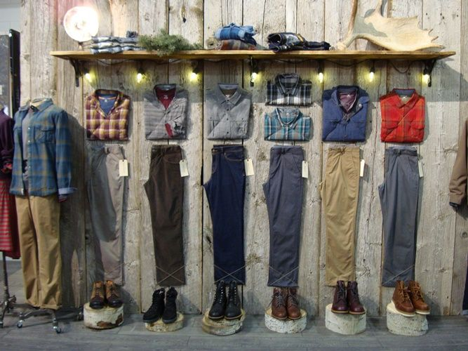 """HORNY TOAD CLOTHING, Santa Barbara,CA,""""This is a great way to show outfits when your mannequins are out of town on a well deserved holiday"""", pinned by Ton van der Veer"""