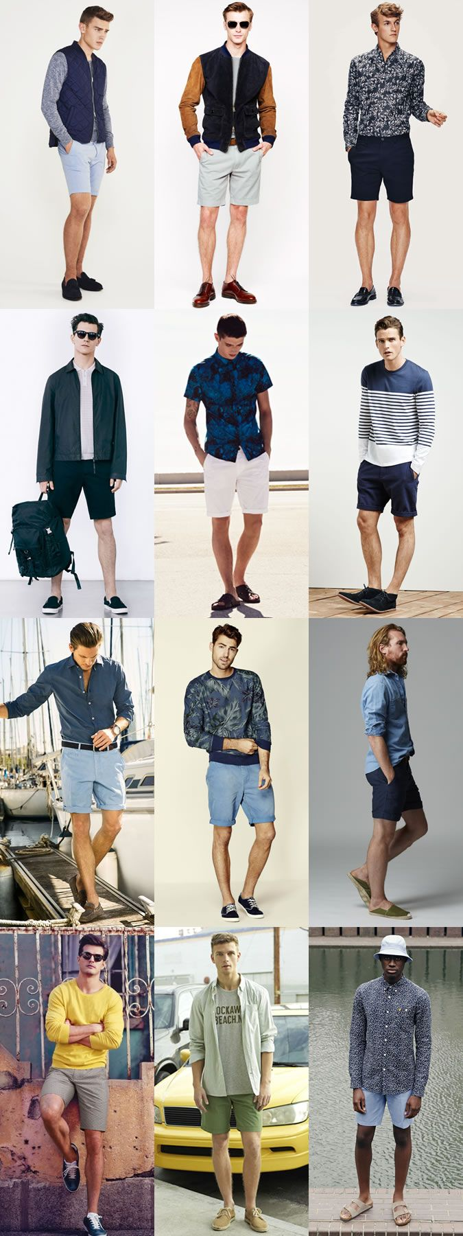 The 2015 Spring/Summer Guide To Shorts: Plain, Muted and Neutral Color Shorts Lookbook Inspiration