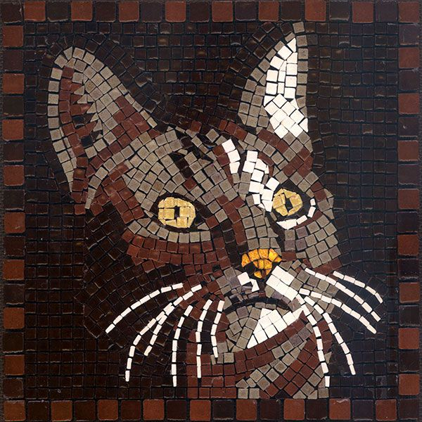 Mosaic Cat Mosaik Katze Mosaique Chat Micro Ceramic