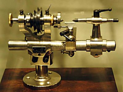 A watchmaker's lathe is a joy to behold with it's exquisite precision pieces. As beautiful as any clock it helped make.