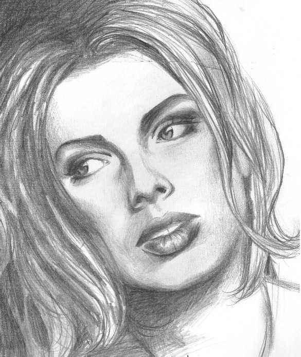Kim Wilde drawing by Igor Kartushin