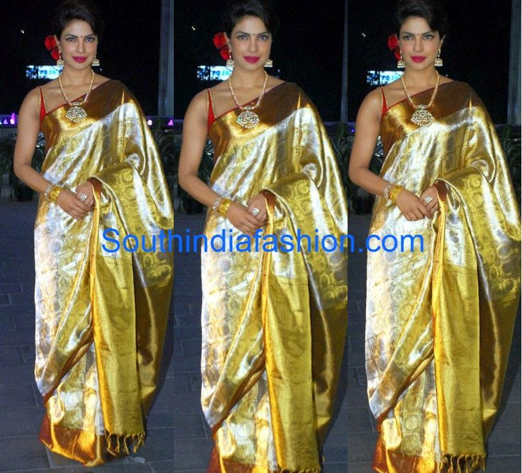 Priyanka in Kanjeevaram Saree