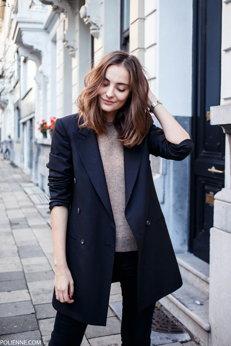 25+ best ideas about Long Blazer on Pinterest | Boyfriend blazer Oversized blazer and Jessica ...