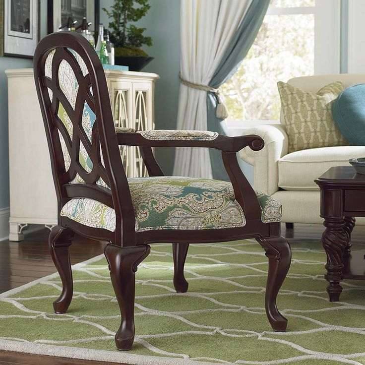 The Keaton Wood Accent Chair By Bassett Furniture Is Available In Fabric Or  Leather.