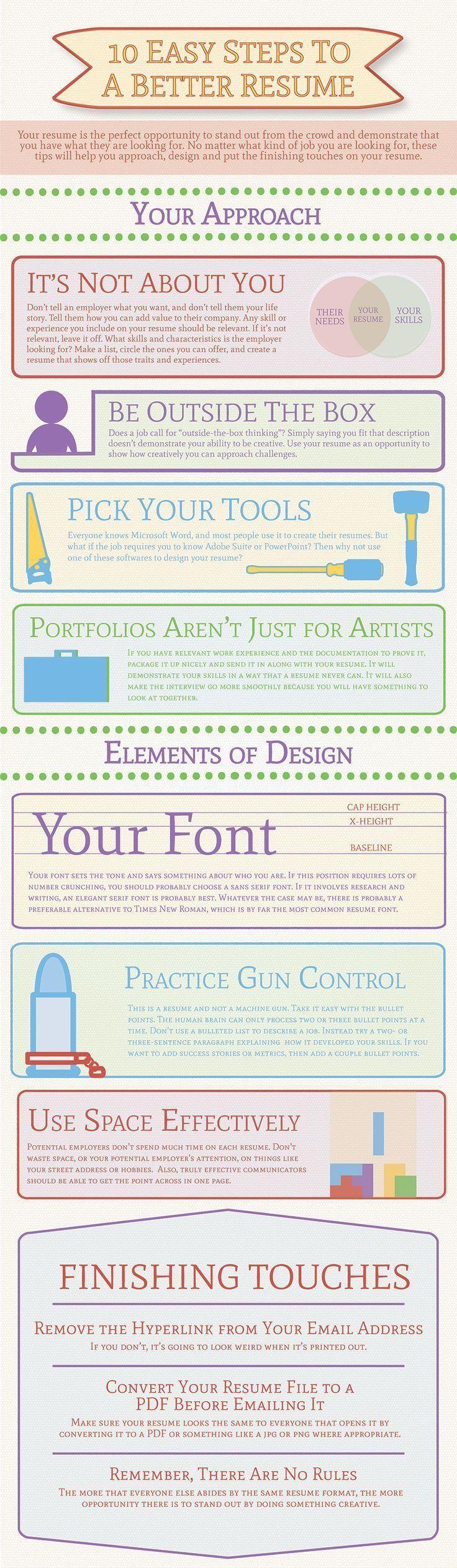 10 easy steps for a better #resume