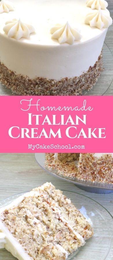 Feuchtes und köstliches italienisches Sahnetortenrezept von Grund auf neu von MyCakeSchool.com! …   – For my family
