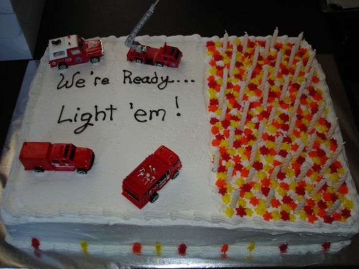 Cake for the 50th birthday of a long-time firefighter.  Buttermilk...