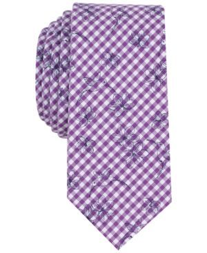 Bar Iii Men's Beaufort Bird Conversational Slim Tie, Only at Macy's - Purple