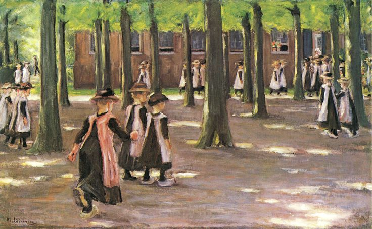 Liebermann, Max: Schulgang in Laren, 1898.
