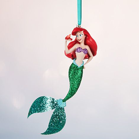 203 best disney ornaments 3 images on pinterest disney for Ariel christmas decoration