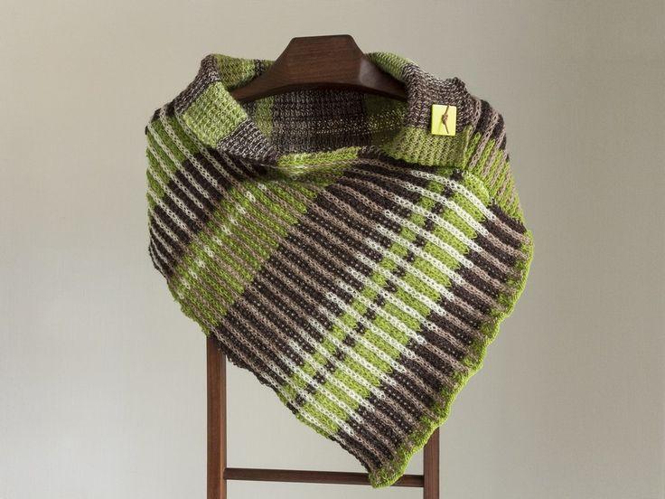 skuldervarmer tørklæde sjal strik gratis opskrift
