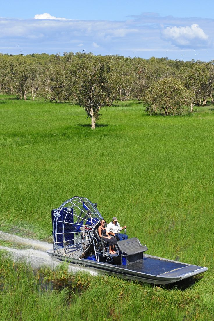 This airboat tour at Bamurru Plains is in Northern Territory Australia! It's included as part of your all inclusive 'Wilderness Experience Package' when you stay at this uber luxury bush resort!