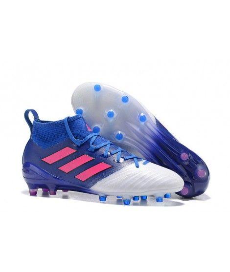 Adidas ACE 17.1 FG Tacchetti Per Terreni DuriUomo Scarpe Da Calcio Blu Bianco Rosa