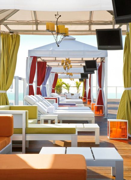 Perry South Beach rooftop day cabanas