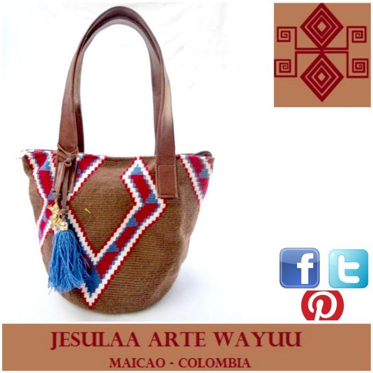 505 best BAGS- MOCHILA WAYUU images on Pinterest | Crocheted bags ...
