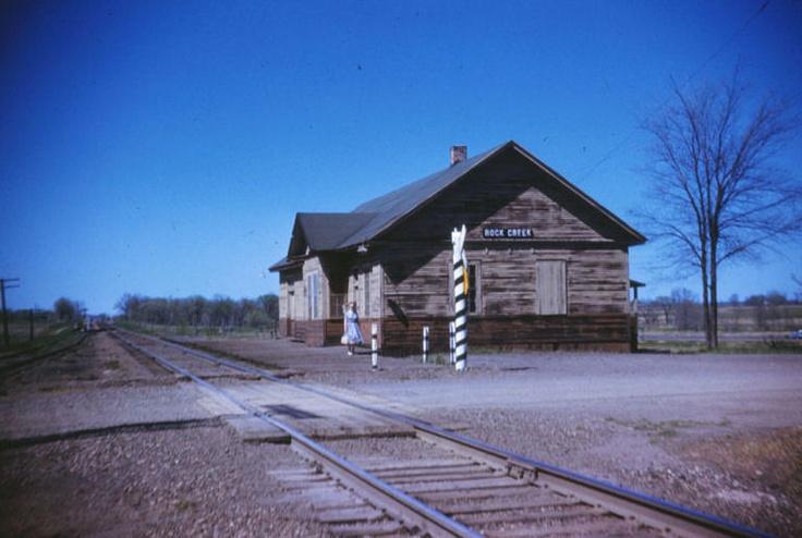 Former Northern Pacific depot at Rock Creek, Minnesota