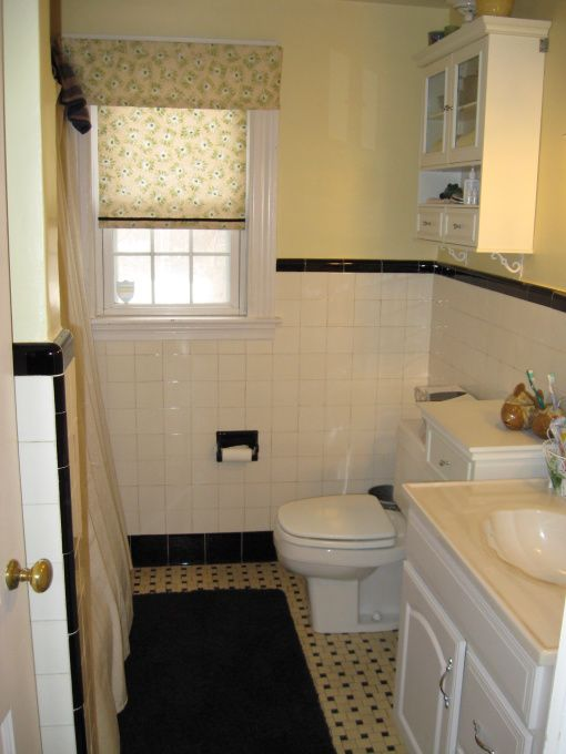 Decorate home 1950 1950s original black white tile for 1950 bathroom ideas