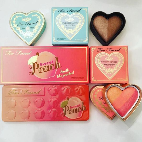 too faced sweet peach   The Too Faced Peanut Butter and Jelly Palettes launches February 2016 ...