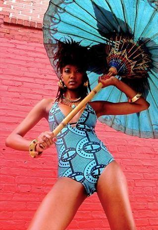 MAEMA- African Print Swimsuit. ~Latest African Fashion, African Prints, African fashion styles, African clothing, Nigerian style, Ghanaian fashion, African women dresses, African Bags, African shoes, Kitenge, Gele, Nigerian fashion, Ankara, Aso okè, Kenté