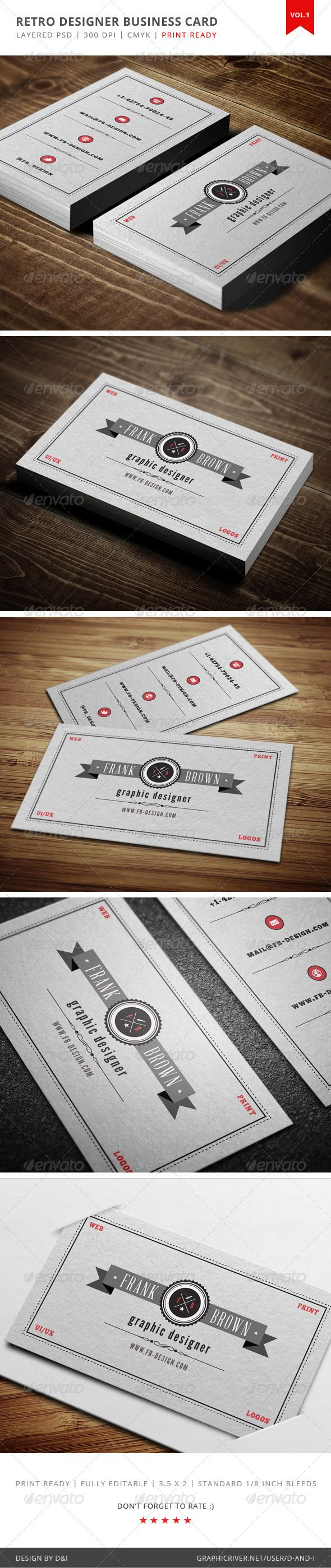 155 best business cards images on pinterest business card design print templates graphic designer business card graphicriver reheart Choice Image