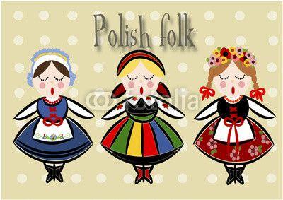 Zdjęcie Traditional Polish Costume - Vector. | Fototapety | Dekoracje Na Wymiar
