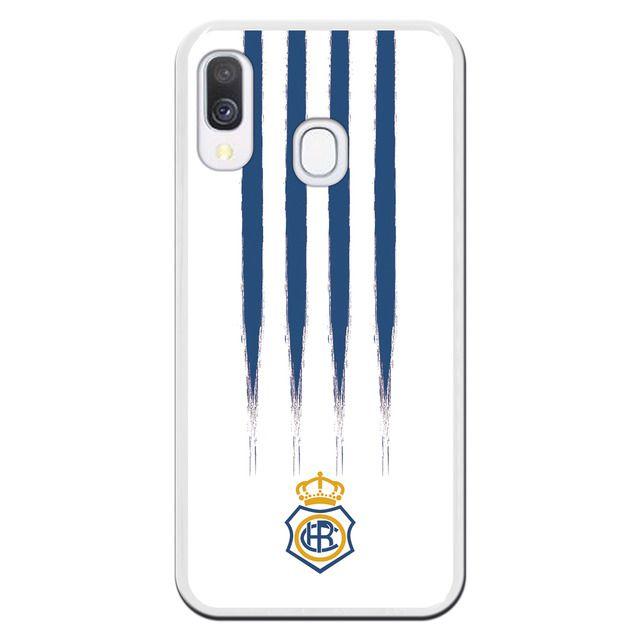 Real Club Recreativo De Huelva Funda Para Samsung Galaxy A40 Oficial De Real Club Recreativo De Huelva Manchas Azules De Silic En 2020 Fundas Para Samsung Samsung Y Fundas