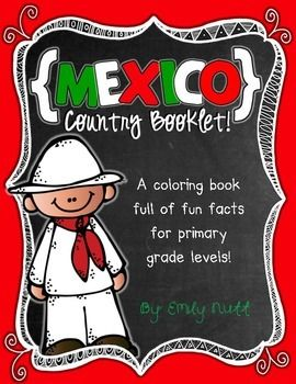 Mexico Booklet (a country study!) -- Use during social studies units about countries around the world! TeachersPayTeachers