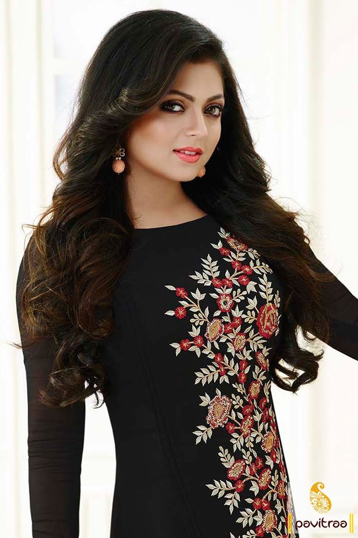 Believe in style of comfort with stylish Drashti Dhami #black color straight cut salwar suit for party online collection. Get most stylish Indian fashion designer actresses salwar kameez with discount sale. #salwarsuits, #tvactresssalwarsuits, #drashtidhamidresses  More : http://www.pavitraa.in/store/churidar-salwar-kameez/?utm_source=mk&utm_medium=pinterestpost&utm_campaign=8Apr