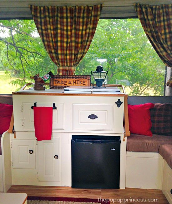 Megan's Pop Up Camper Makeover - The Pop Up Princess - love the bottle opener