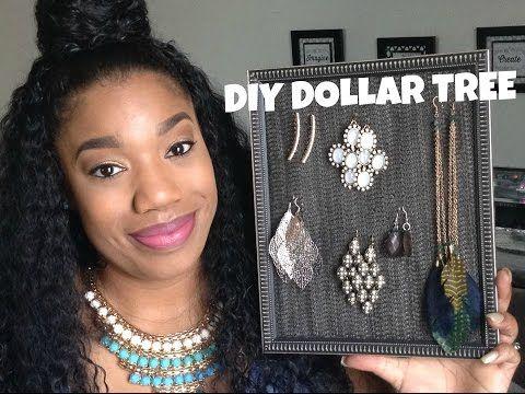 Dollar Tree DIY |Jewelry Organizer| CUTE, QUICK & EASY - YouTube