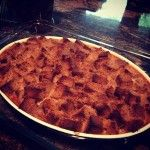 apple honey cake bread pudding