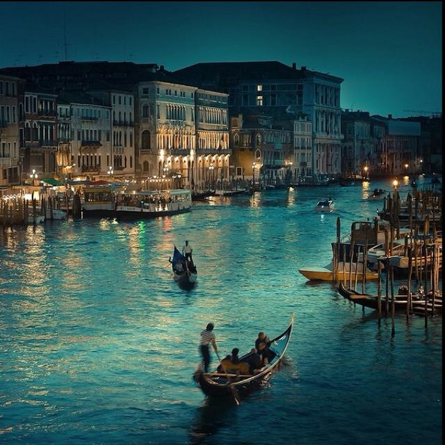 Beautiful Venice. Miss this.   Beautiful Gondola ride at twilight on October 5, 2012
