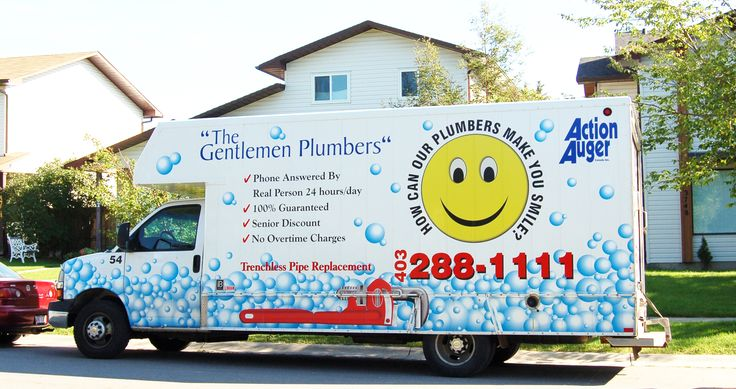 The Gentlemen Plumbers fully stocked trucks for 24/7 emergency plumbing & heating service! In #YYC call: 403-288-1111 or visit www.thegentlemenplumbers.com for more service numbers in Southern Alberta.