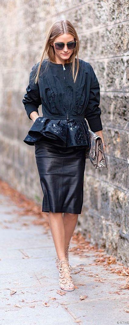So chic, Olivia Palermo at Paris #fashionweek 2015