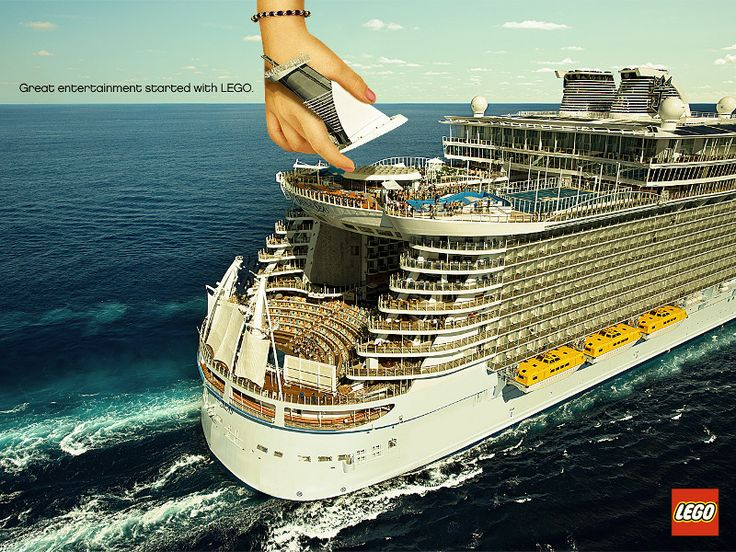 """It all started with lego"" Cruise Ship Advertisment"