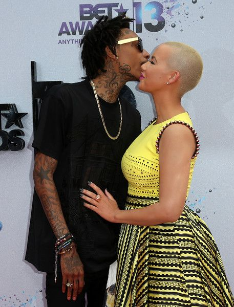 wis khalifa and amber rose at #BETAWARDS2013