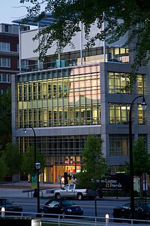 MODA (Museum of Design Atlanta) located on Peachtree St. Saw the skateboard exhibit here :)