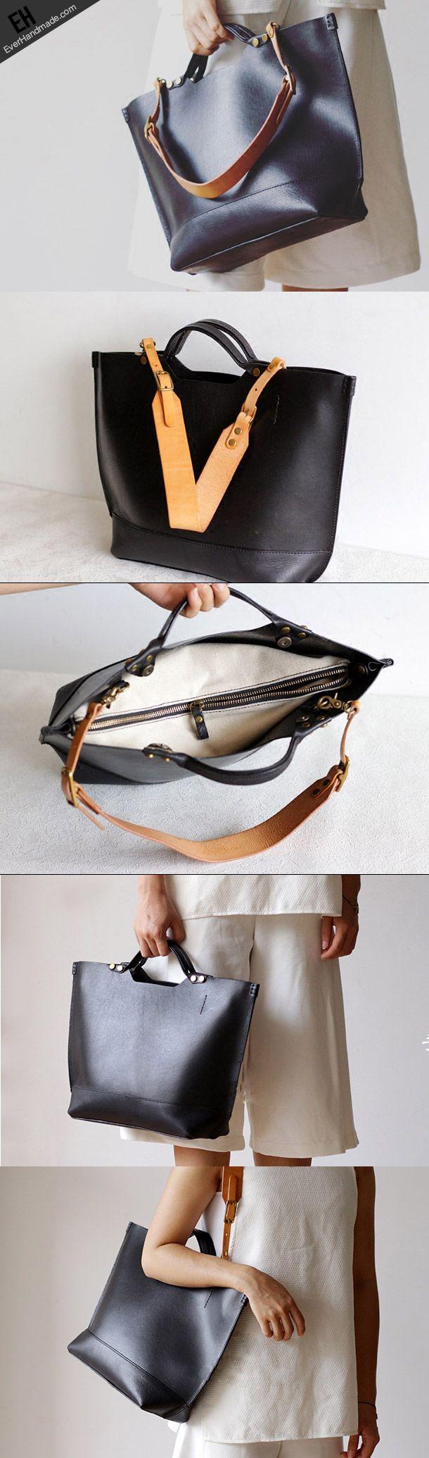 Handmade Leather tote bag for women leather shoulder bag handbag