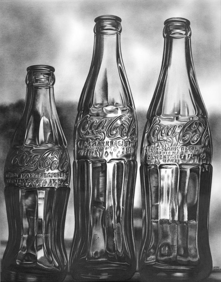 how to draw a coke bottle