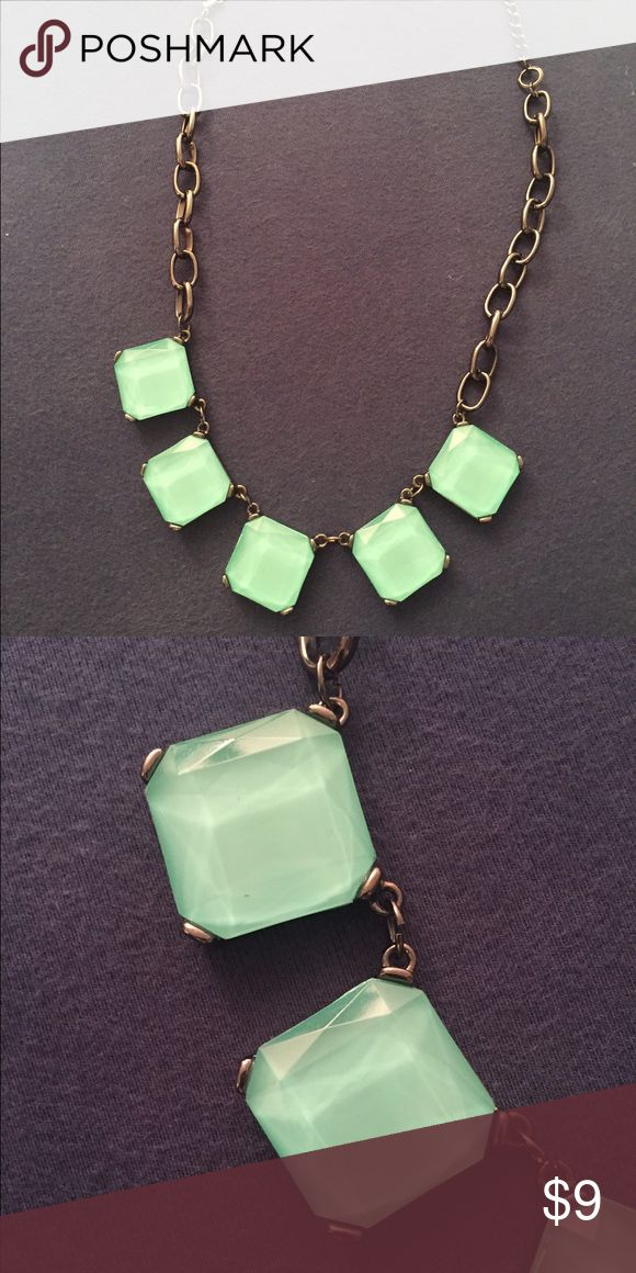 PRICE DROP. Seafoam Green Statement Necklace PRICE REDUCED. Eye-catching necklace. Barely worn. Jewelry Necklaces