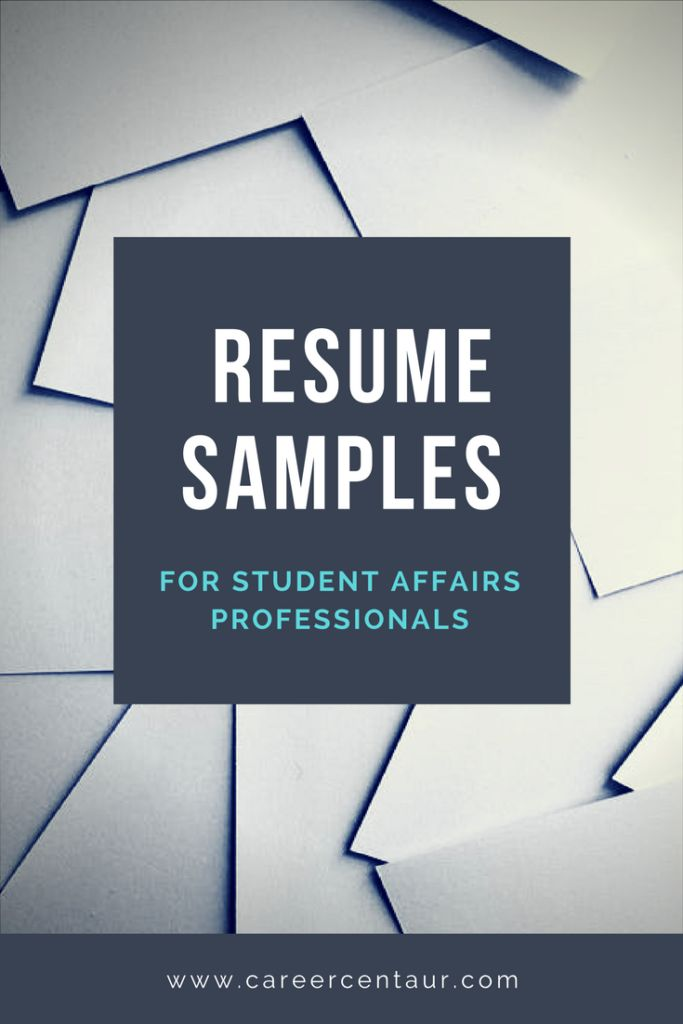 View free student affairs resume samples for